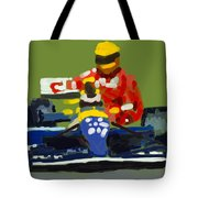 Senna And Mansell Tote Bag