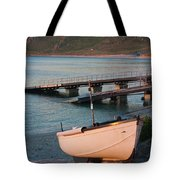 Sennen Cove Boat At Sunset Tote Bag