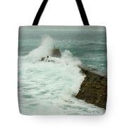 Sennen Cove Breakwater Tote Bag