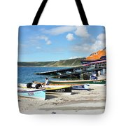 Sennen Cove Lifeboat And Pilot Gigs Tote Bag