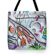 Sensing The Precipice Tote Bag