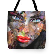 Sensual Eyes Autumn Tote Bag