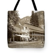 Sentinel Hotel And Ivy And River Cottages Circa 1895 Tote Bag