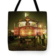 Sentinel Steam Bus By Night  Tote Bag