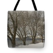 Sentinels In The Snow Tote Bag