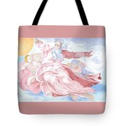 Separation Of The Planets Sistine Chapel Michelangelo Tote Bag