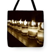 Sepia Candles Tote Bag