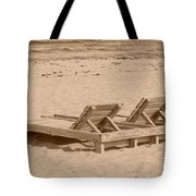 Sepia Chairs Tote Bag