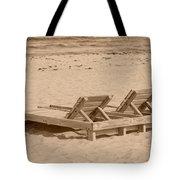 Sepia Chairs Tote Bag