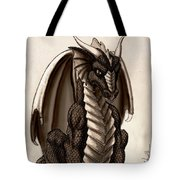 Sepia Dragon Tote Bag
