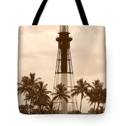 Sepia Light House  Tote Bag