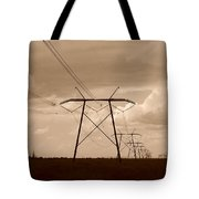 Sepia Power Tote Bag