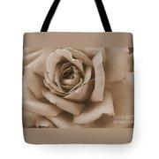 Sepia Rose Abstract Tote Bag