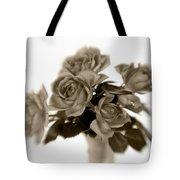 Sepia Roses Tote Bag