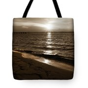 Sepia Sunset Tote Bag by Keith Smith
