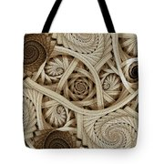 Sepia Swirls Fractal Art Tote Bag