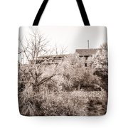 Sepia-toned Blooming Almond Trees Of Fikardou Village 1 Tote Bag