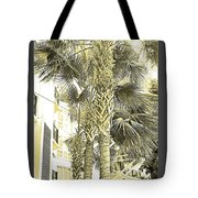 Sepia Toned Pen And Ink Palm Trees Tote Bag