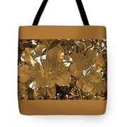 Sepia Toned Pink Bevy Of Beauties In Grayscale Tote Bag