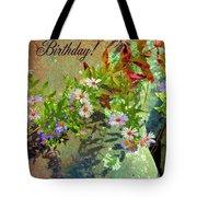 September Birthday Aster Tote Bag