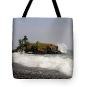 September Storm At Hollow Rock Tote Bag