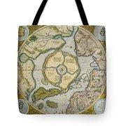 Septentrionalium Terrarum Descriptio Tote Bag by Gerardus Mercator