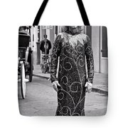 Sequined Mime In Black And White Tote Bag