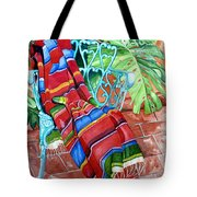 Serape On Wrought Iron Chair I Tote Bag