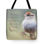 Serendipitous Sparrow - Quote Tote Bag