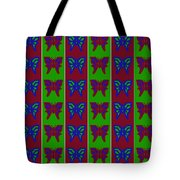 Serendipity Butterflies Blueredgreen 14of15 Tote Bag