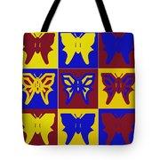 Serendipity Butterflies Brickgoldblue 1 Tote Bag