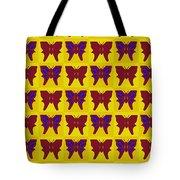 Serendipity Butterflies Brickgoldblue 26 Tote Bag