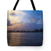 Serene City At Dusk Tote Bag