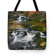 Serene Mountain Stream Tote Bag
