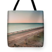 Serene Seascape At Sunrise Tote Bag by Julis Simo