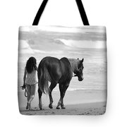Serene Synchronicity In Black And White Tote Bag