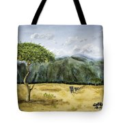 Serengeti Painting Tote Bag