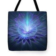 Serenity Abstract Fractal Tote Bag