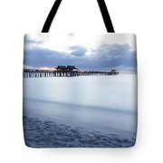 Serenity At Naples Pier Tote Bag