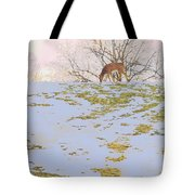 Serenity In The Spring Snow Tote Bag