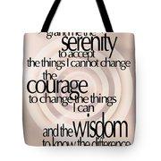 Serenity Prayer 06 Tote Bag