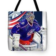 Sergei Bobrovsky Columbus Blue Jackets Tote Bag