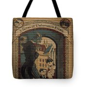 Series Of Unfortunate Events Book The First Typography Cover Using Every Word Of Text Tote Bag