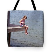 Serious Fishergirl On The Indian River In Florida Tote Bag