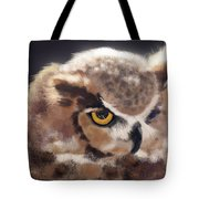 Serious Horned Owl Tote Bag