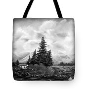 Serpentine Creek In Black And White Tote Bag