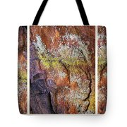Set In Stone Triptych Tote Bag