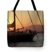 Set Sail On The Aegean At Sunset Tote Bag