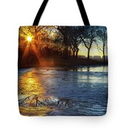 Setting On Thin Ice Tote Bag