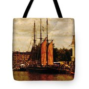Setting Sail From Bristol Tote Bag by Brian Roscorla